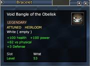 Void Bangle of the Obelisk
