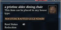 A pristine alder dining chair