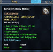 Ring for Many Hands
