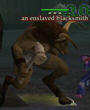 An enslaved blacksmith