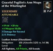 Graceful Pugilist's Arm Wraps of the Whirlingfist