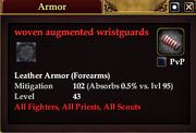 Woven augmented wristguards