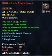 Ritik's Link Mail Gloves