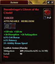 Stormbringer's Gloves of the Citadel