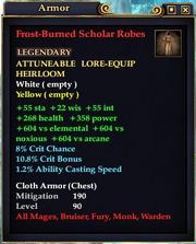 Frost-Burned Scholar Robes