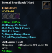 Eternal Broodlands' Hood