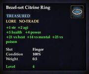 Bezel-set Citrine Ring