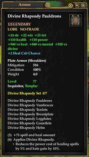 Divine Rhapsody Pauldrons