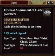 Ethereal Adornment of Haste (Greater)