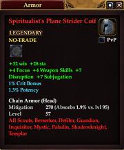 Spiritualist's Plane Strider Coif