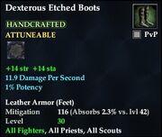 Dexterous Etched Boots