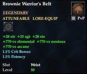 Brownie Warrior's Belt