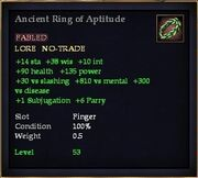Ancient Ring of Aptitude