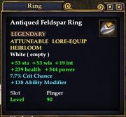 Antiqued Feldspar Ring