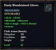 Dusty Bloodstained Gloves