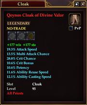 Qeynos Cloak of Divine Valor