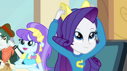 Rarity putting on ears EG