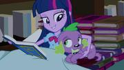 Twilight holding Spike close EG