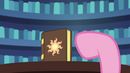 Pinkie Pie points to the book yet again EG2