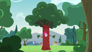 Pinkie disguised as a tree EG3
