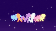 Main cast pony silhouettes EG opening