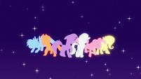 Main cast pony silhouettes EG opening