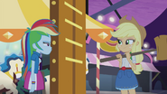 Applejack better than Rainbow at the high-striker EG2