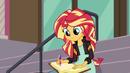 Sunset writing in her journal EG3
