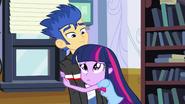 Twilight hugging Flash Sentry EG