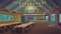 Legend of Everfree background asset - Camp Everfree cafeteria