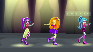 The Dazzlings dancing to the right EG2