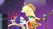 Rarity bumps into Applejack during Shake Your Tail EG2
