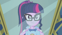 Sci-Twi posing in front of a mirror EG4