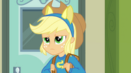 Applejack frowning with pony ears EG