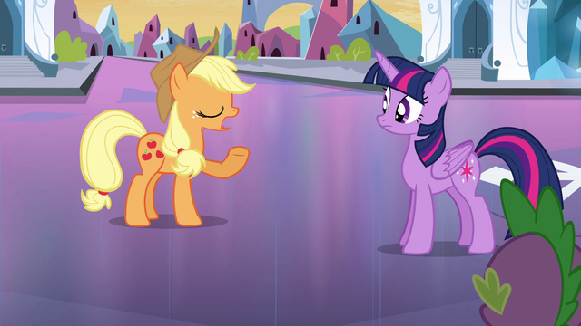 "File:Applejack ""no reason to fret"" EG.png"