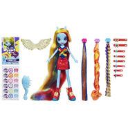 Equestria Girls Rainbow Dash hairstyling doll