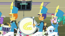 Drummer, bass drummer, and piccolo player EG3