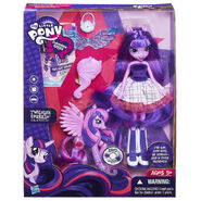 Equestria Girls Twilight Sparkle Doll and Pony Set packaging