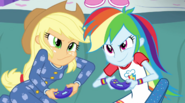 Rainbow Dash and Applejack playing a video game EG2