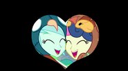 Lyra and Sweetie Drops heart-shaped iris out EG3