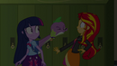 Spike barks at Sunset Shimmer EG