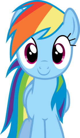 File:FANMADE Rainbow Dash smiling.png