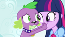 Spike covers Twilight's mouth EG