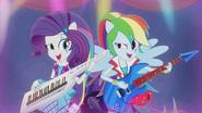 Rarity and Rainbow Dash rocking out EG2