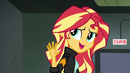 Sunset saying later to her friends EG3