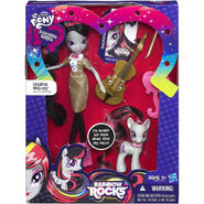 Rainbow Rocks Octavia Melody Doll and Pony Set packaging