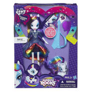 Rainbow Rocks Rarity Doll and Pony Set packaging
