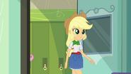 Applejack enters the classroom EG