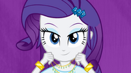 Rarity putting on a necklace EG
