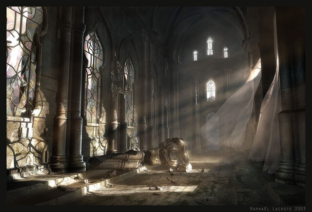 File:Dawn on the Ancient Hall by Raphael Lacoste.jpg